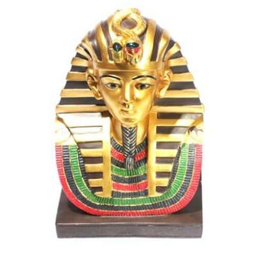 Decorative Gold Egyptian Tutankhamen Bust